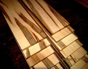 "16 Pieces Beautiful Ambrosia Maple Thins 12"" X 3"" X 1/4"""