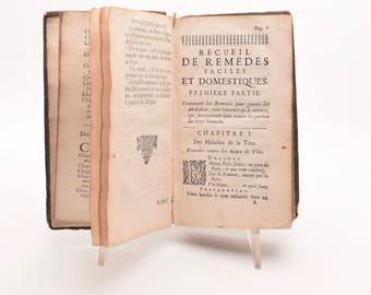 """Antiquarian book, France 1701, Dijon:""""Recueil des remedes faciles et domestiques..."""""""