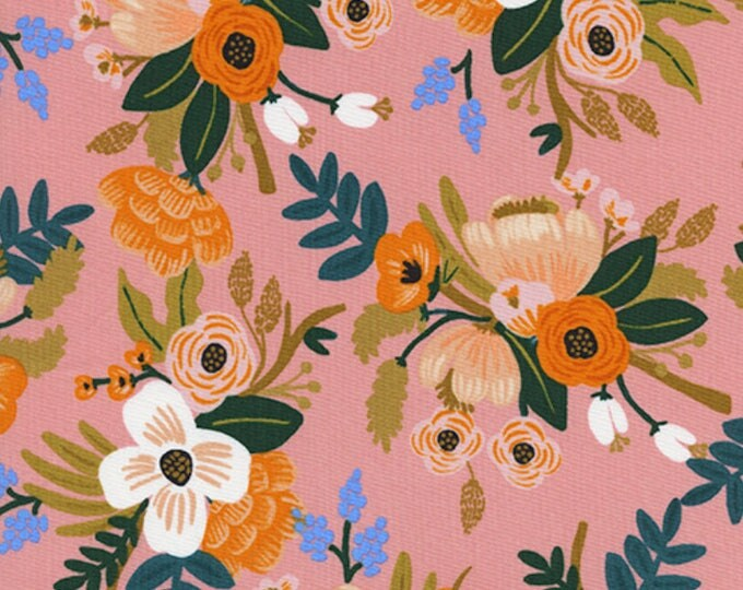 PRESALE: Lively Floral - Coral from Amalfi Collection by Rifle Paper Co. for Cotton + Steel