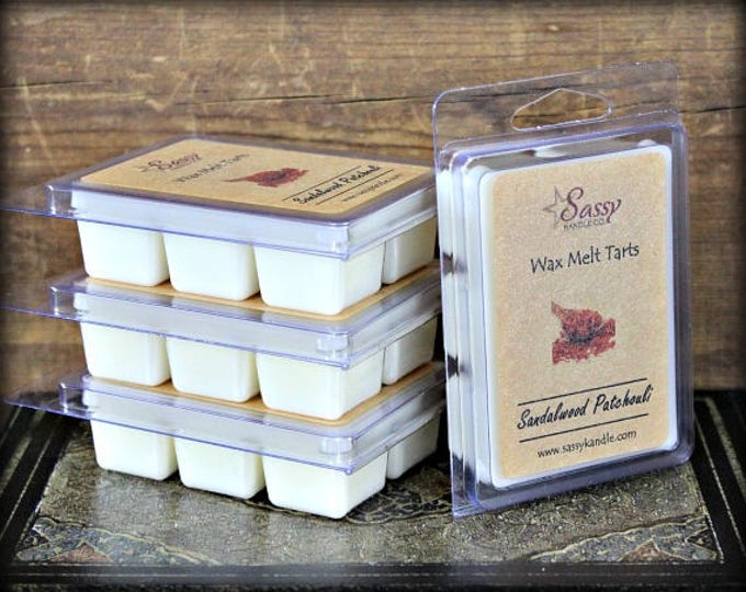 SANDALWOOD & PATCHOULI | Wax Melt Tart | Sassy Kandle Co.