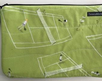 Large Tennis Zip Pouch