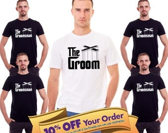 the groom & groomsman shirt set  |  bachelor party shirts  |  groom and groomsman gift  |   (note sizes @ checkout)