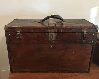 Vintage GERSTNER Wood 5 Drawer Machinist Tool Chest