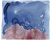 DARK DOLOMITES 1 - Dolomites - Watercolour Original - Fine Art - Mountain Scenery - Landscape Painting - ElizabethAFox