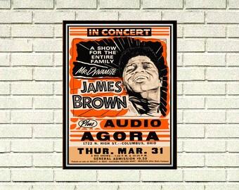 Reprint of a 60's James Brown Concert Poster
