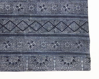 Placemats Bohemian Hmong Batik Indigo Tribal Ethnic blue Navy Indigo Natural dyed