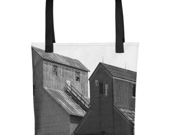Tote bag - Red Silo Original Art - Twin Towers