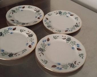 4 Vintage Colclough 'Linden' Tea Plates Bone China