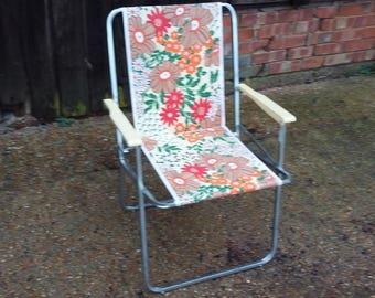 Vintage Retro Italian Deck Chair