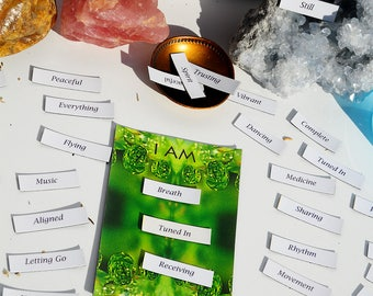 Spirit Affirmation Magnets, Daily Mantra Kit, I AM Empowerment Gift, Believe in yourself, magnetic words for fridge, intention gift for soul