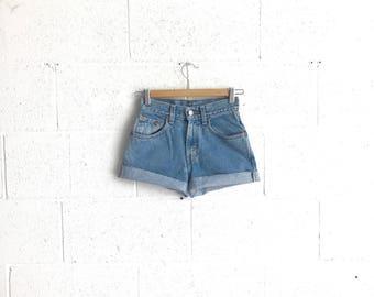 Levi high waisted denim shorts   Etsy