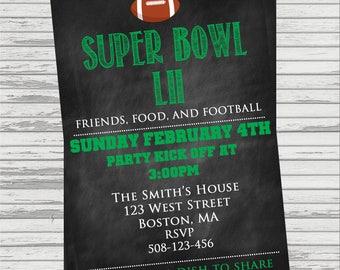 Super Bowl Party Custom DIGITAL Invitation.