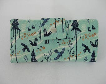 Wildlife Womens Wallet, Handmade Ladies Wallet, BiFold Clutch