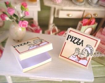 Dollhouse miniature 1 empty fancy PIZZA box