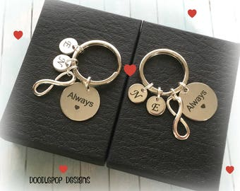 Personalised wedding gift - Always keychains - Gift for couple - Engagement gift - Anniversary gift - Always keyrings - Couple gift - UK