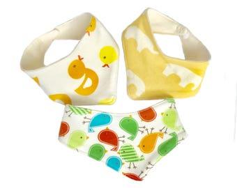 Organic bandana bibs, infant drool bibs, organic drool bibs, baby gift under 20, French terry bibs, organic cotton bibs,newborn bandana bibs