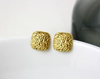 Flurry - gold-plated earrings