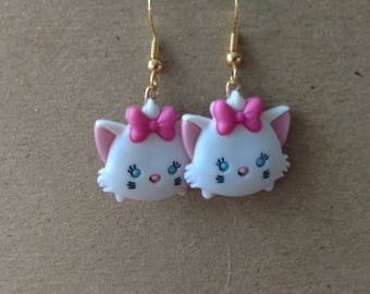 Aristocats Marie fish hook earrings