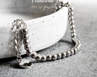 Silver bracelet-Beads