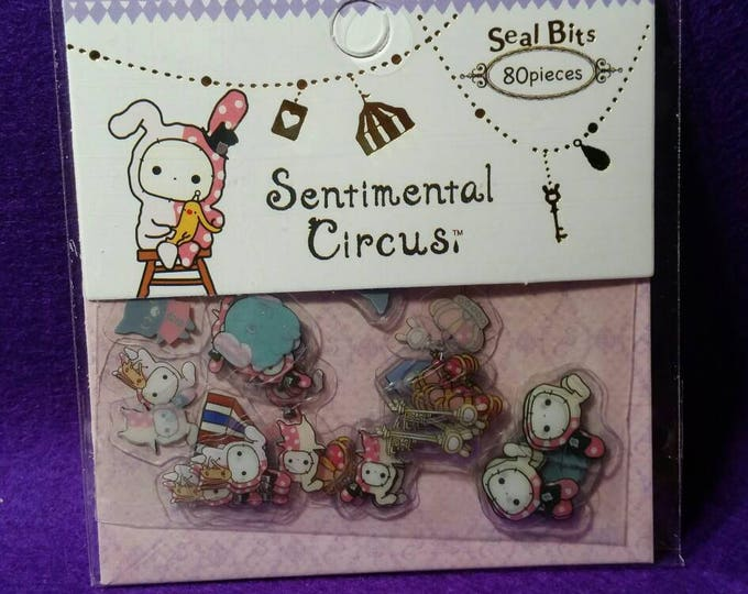 Kawaii Sentimental Circus Sticker Sack by San X