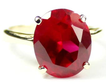 Created Ruby, 14Ky Gold Ring, R055