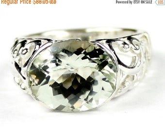 On Sale, 20% Off, Green Amethyst (Prasiolite), East-West 925 Sterling Silver Ring, SR360