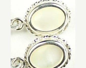 On Sale, 30% Off, Mother of Pearl, 925 Sterling Silver Leverback Rope Earrings, SE006