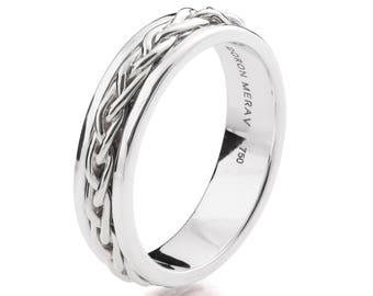 Celtic Wedding Band Braided Wedding Band Two Tone Wedding Ring Two Tone Celtic