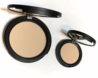 SOFT LINEN Natural Mineral Pressed Foundation or Setting Powder - Gluten Free Vegan Makeup