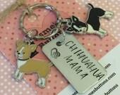Chihuahua gift, chihuahua mom, chihuahua keyring gift, chihuahua Key Ring, handstamped  keyring, dog gift,  dog lover gift,