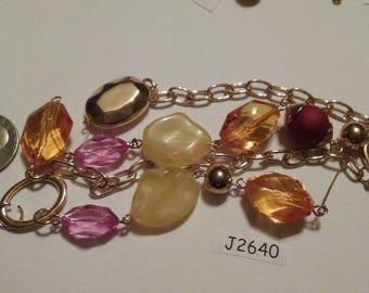 Vintage Finding Lot,  Mixed media lot, Repair, Repurpose, pendants, charms, rhinestones, Destash lot, finding lot,  J2640