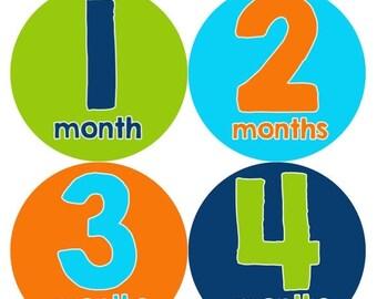 Monthly Baby Milestone Stickers Baby Boy Baby Shower Gift One-Piece Baby Stickers Monthly Baby Stickers Baby Month Sticker 240