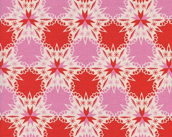 Kaliedescope in Red by Melody Miller from the Noel collection for Cotton and Steel #c5140-002 by 1/2 yard