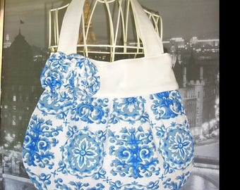 handbag handmade French ball blue retro