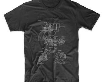 Smith and Wesson Hammerless Pistol 1898 Patent T Shirt, Gun Shirt, Gun Lover, Antique Gun, PP0375