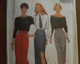 Butterick 6418, Glamour collection, misses, petite, wrap skirts and regular skirts, UNCUT sewing pattern, craft supplies,