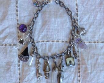 Silver Talisman Charm Bracelet