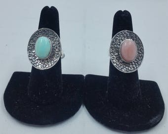 Opals and Sterling Silver settings