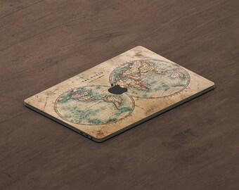 World Maps MacBook Decal Laptop Sticker Macbook Pro Air Vinyl Decal Macbook Sticker