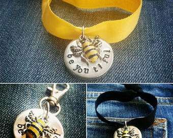 Manchester Bee bracelet/keyring in memory of those lost in the Manchester Bomb, donation made for each sale to the families of those lost