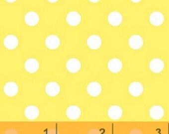 Windham Basic Brights - Aspirin Dot in Yellow / White - Bright Basics Cotton Quilt Fabric Dots - Windham Fabrics - 29398-7 (W4149)