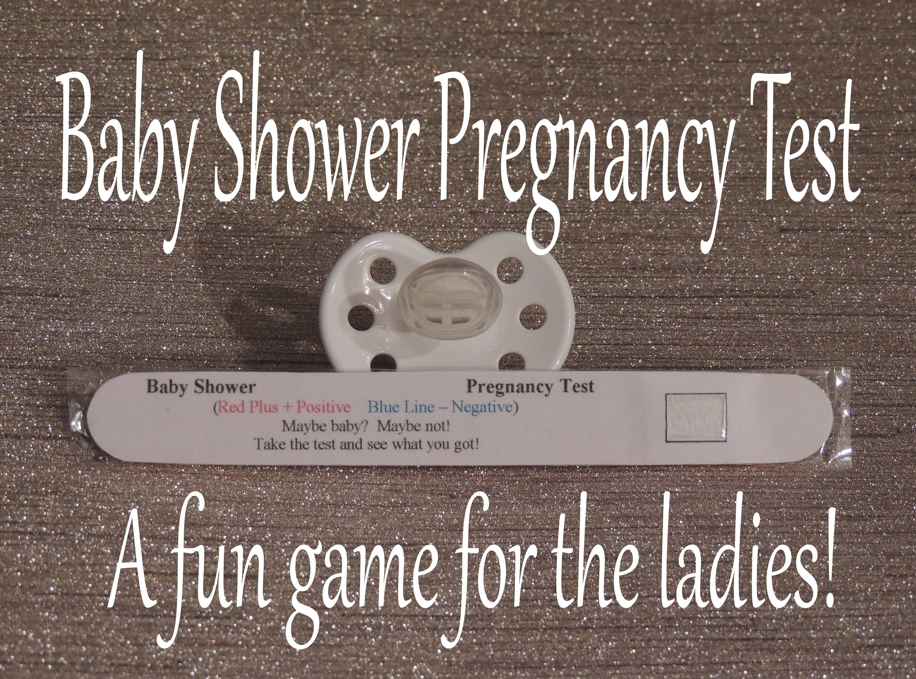 Baby Shower / Baby Shower Game / Games / Fun Baby Shower Game / Pregnancy  Tests
