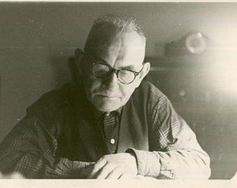 Vintage Photo of Sweet Faced Old Man, 1950's Original Found Photo, Vernacular Photography