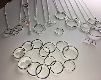 Handmade sterling silver ring