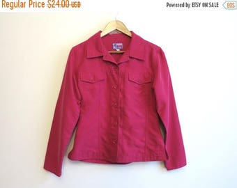ON SALE Hot Pink Summer Womens Jacket Buttons Up Fuchsia Pink Blazer Small Size