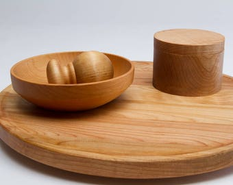 Not Your Everyday Wood Lazy Susan | Affordable Wood Lazy Susan in Maple