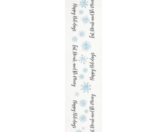 Christmas table runner, snowflake decorations, tablecloth rectangle, dinner table centerpiece