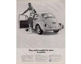 Vintage poster advertisement of a 1966 Volkswagen - 20