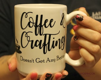 Coffee & Crafting 16oz Coffee Mug