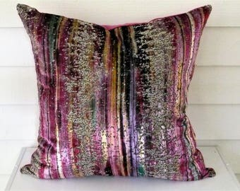 Brushstroke Cut Velvet  Pillow Cover